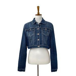 Dollhouse Cropped Jean Jacket Blue Size XL